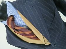 Abercrombie & Fitch navy blue chalk stripe hacking style sport coat Size S 38 R