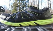 STARTER-PRO BLACK AND BRIGHT GREEN MESH UPPER MENS ATHLETIC SHOE SIZE 12