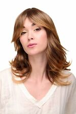 Perruque Frange Lisse Ondulé Lumineux Affiler Marron Blond Mix TYW60349-33T144