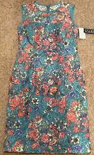 Alex Evenings Blue Floral Sequined Formal Dress Sleeveless Size 6 Nwt
