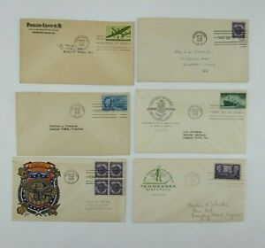 6 Vintage 1946 First Day of Issue Envelope Military Honorable Discharge 1944