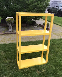 VTG MCM 1960's Plastic Yellow Stackable Shelving Shelves Modular Tables Kartell