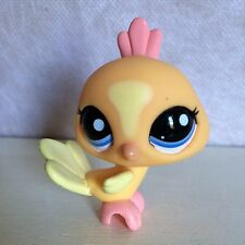 Littlest Pet Shop LPS #1893 Peach Peacock w/ blue eyes.  6 pictures - USA seller