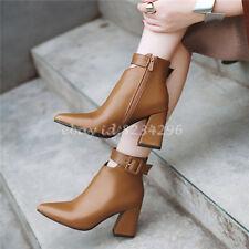 Sexy Spitz Stiefeletten Damen Schnalle Ankle Boots Freizeit Stiefel Schuhe  NEUE bf6b005884