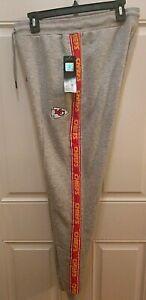 NFL Team Apparel KC Kansas City Chiefs Women's Sweat Lounge Pants Size L