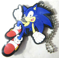 NEW 6cm OFFICIAL SONIC THE HEDGEHOG TOMY PLASTIC FOAM KEYCHAIN TOYS SEGA RARE