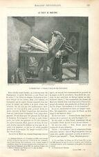 La Tragique Histoire du docteur Faust de Christopher Marlowe poète GRAVURE 1886