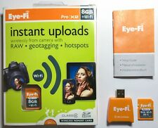 EYE-FI  Pro  X2  8GB + Wi-Fi  Class 6  SDHC MEMORY CARD w Geotagging
