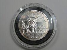 BU 1986 Silver 100 FRANC LIBERTY PEIDFORT MTG-5000. FRANCE.  #9