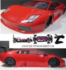 1/10 Scale Lamborghini Murcielago RTR RC Drift Cars 4WD 2.4Ghz & Charger RED