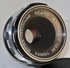 M42 A.SCHACHT ULM Edixa-Travenar 1:2,8/50 f2.8 50mm LENS + CAPS - VERY CLEAN