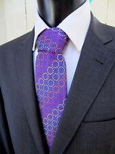 Seaward & Stearn Seven Fold Woven Colorful Purple Silk Tie