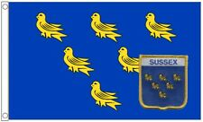 Sussex Comté 5' x 3' Flag & Patch Brodé Ensemble