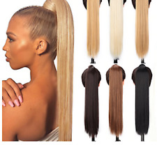 Deluxe Clip In Ponytail As Human Hair Extension Piece Advanced Highlight UK TOP