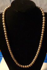"""TAXCO  STERLING SILVER BEAD NECKLACE 28"""" ARTIST TD 29 WT. 112 GR"""