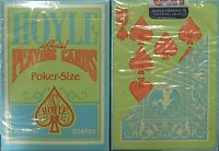 Hoyle Green Clamshell Playing Cards with Orange Pips -1 deck