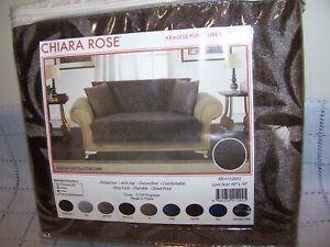 Chiara Rose Armless Furniture/Sofa Protector 60 x 70 - Choc. Brown  - Brand New