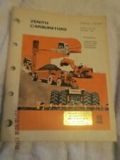 Zenith Carburetor Vintage Heavy Equipment Carb Catalog 1-500B Guide Book