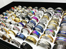 wholesale pack of 25pcs mix stainless steel fashion jewelry band/spinner rings