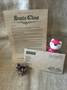 Personalised Christmas Letter From Santa, personalised envelope A4 kraft paper