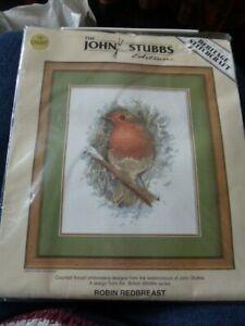 "THE JOHN STUBBS EDITION ""ROBIN REDBREAST CROSS STITCH"
