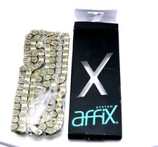 "Affix BMX Half Link Chain 3/32"" x 116-links SOLID Pin, Single Speed Fixie GOLD"