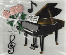 VAT Trimits Craft Card Making Stickers Piano Music Notes Flowers C2132