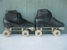 Vtg 1950s Men's Roller Skates Wood Wheels Hyde 9D Excellent Condition!