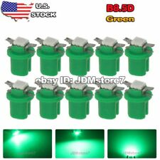 10x Green B8.5D B8.5 LED Gauge Speedo Dashboard Dash Panel Light dashboard Bulbs