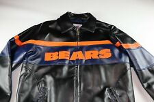 Chicago Bears NFL Faux Leather Jacket Men's Medium