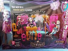 Monster High  13 Wishes PARTY LOUNGE PlaySet  SPECTRA VONDERGEIST DOLL Include