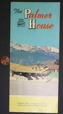 1950-60s Era Colorado Springs Palmer House Best Western Hotel brochure-VINTAGE!*