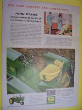 Vintage John Deere Advertising Sheet -4010 Model Tractor - 1961
