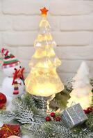 Musical Led Globe Snow Globe Water Glittering Tree Spinning Christmas Tree,Silve