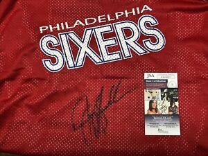 Jerry Stackhouse Auto Sixers Champion NBA Warm Up Jersey (JSA COA) 76ers