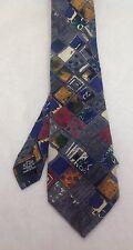 "Ungaro, 3-1/2""x60"", 100% Silk, Diamond, Multicolor, Paris Italy, EUC, Necktie"