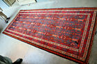 COLLECTORS' PIECE Antique Pictorial Natural Vegetable Dye Washable Tribal Runner