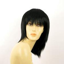 Perruque femme mi longue noir FANIE 1B