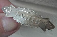 Vintage Stg. Silver Name Brooch h/m 1917 -  LOUIE  or  Louis , Louise , Louisa