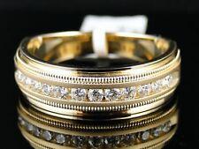 14K MENS YELLOW GOLD DIAMOND WEDDING BAND RING 1/2 CT