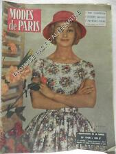 Revue MODES DE PARIS magazine 546 de 1959 femme collection ancien vintage rétro