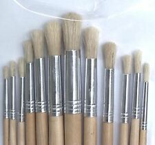 Artist Paint Brush Set 12pc Round Tipped 1 - 12 Art Decorating Acrylic Paint
