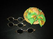 Vintage Beanie Babies Accessories Hat & Glasses