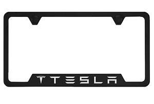 Tesla Black License Plate Frame