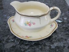 Vintage Rare Alfred Meakin Royal Marigold Gravy/Sauce Boat & Attached Underplate