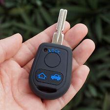 Black Rubber key fob cover case for BMW E31 E32 E34 E36 E38 E39 E46 Z3 3 Buttons