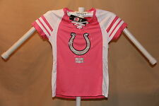 Indianapolis Colts NFL Fan Fashion JERSEY/Shirt  MAJESTIC  Womens Small NWT pink