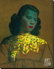 Chinese Girl Stretched Canvas Print by Vladimir Tretchikoff, 22x28