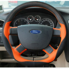 For Ford Focus 12-2014 Car Steering Wheel Cover DIY Hand-stitched Top Leather