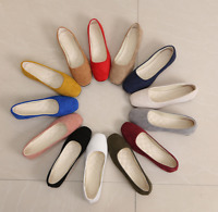 Fashion Womens Square Toe Suede Flats Casual Pumps Shoes Ladies Loafer Slip On